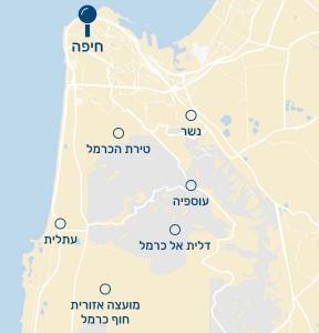 מפת שירות חיפה